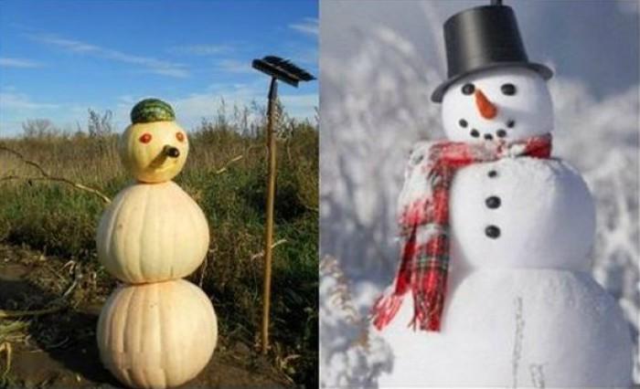 Вицове: Снежният човек Тиквун!